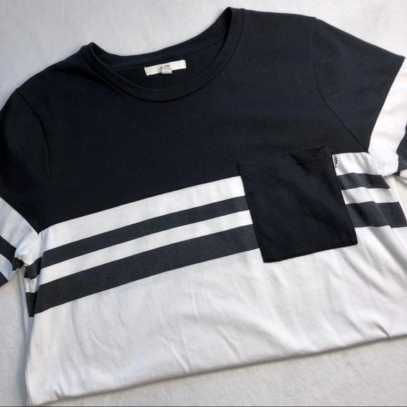 4f6571f1e5 Vans Shirts   Mens Black And White Stripe Pocket Tee   Poshmark